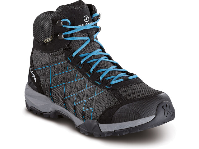 Scarpa M's Hydrogen Hike GTX Shoes dark gray-lake blue